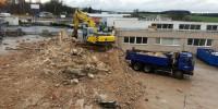 Demolice administrativní budovy, HB